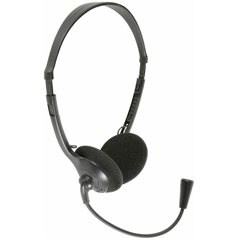 Image of 100.056UK MH30 Multimedia Headset With Boom Microphone - Av:link