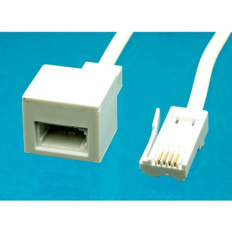 AV:Link 113.500UK UK Telephone Extension Lead 5.0m, White