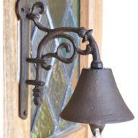 Avocado Stone Cast Iron Rococo Doorbell