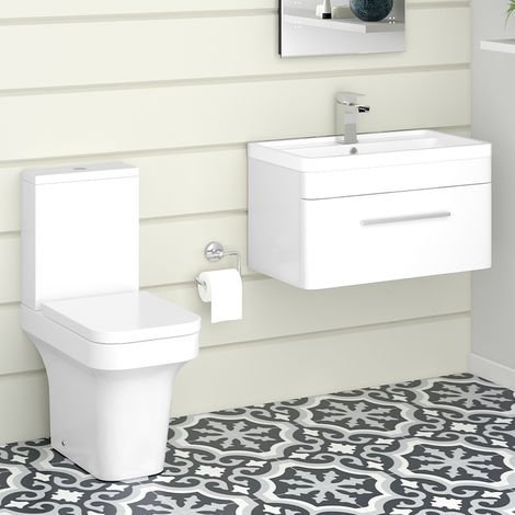 Avola Toilet & Vanity Unit Cloakroom Suite