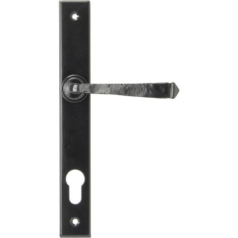 Avon Slimline Lever Espag. Lock Set - Black