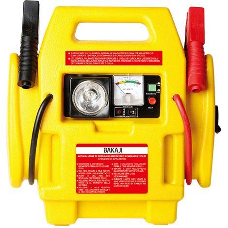 Avviatore di Emergenza Auto Jump Starter 12V Compressore 300PSI Luce Emergenza