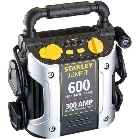 Avviatore Emergenza Auto Jump Starter Stanley 12V 300A USB Cavi Carica Batteria