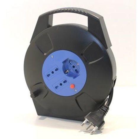 Alpha Elettronica Prolunga Avvolgicavo avvolgibile con prese universali schuko bipasso 10m