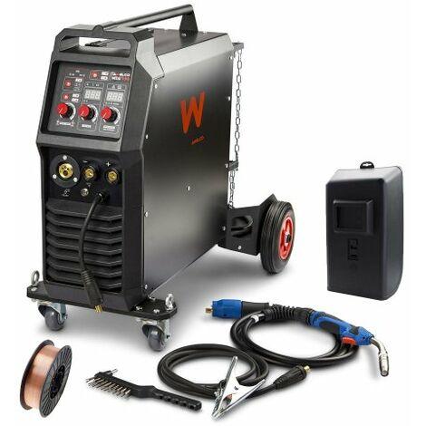 Awelco Inverter Schutzgas Schweißgerät MIG 350 + 5kg Schweißdrahtrolle
