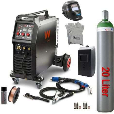 Awelco Inverter Schutzgas Schweißgerät MIG 350 + 7tlg. Zubehör