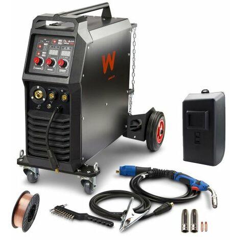 Awelco Inverter Schutzgas Schweißgerät MIG 350 + Düsensatz & Schweißdrahtrolle