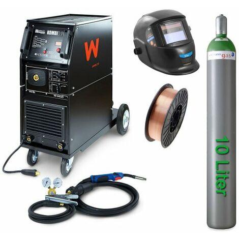 Awelco Schutzgas Schweißgerät MIG 190 Kombi + Zubehör 3 tlg.