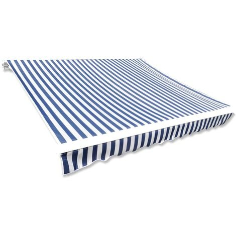 Awning Top Sunshade Canvas Blue & White 6x3m (Frame Not Included)