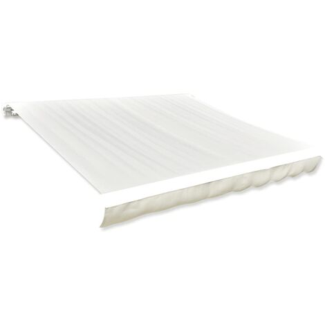 Awning Top Sunshade Canvas Cream 6x3m (Frame Not Included)