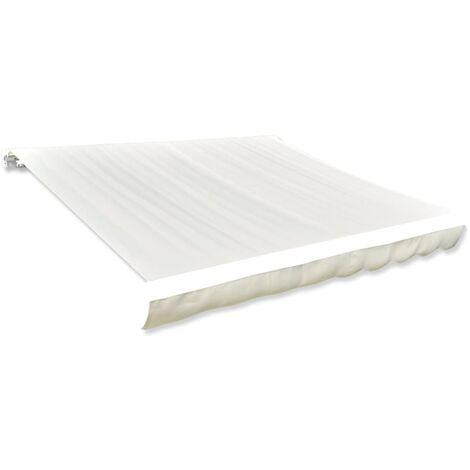 Awning Top Sunshade Canvas Creme 450x300 cm