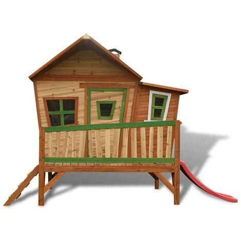 AXI Children's Wooden Playhouse Slide Set Emma