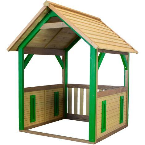 AXI Jane Maison Enfant en Bois FSC | Maison de Jeux pour l'extérieur / Jardin en marron & vert | Maisonnette / Cabane de Jeu