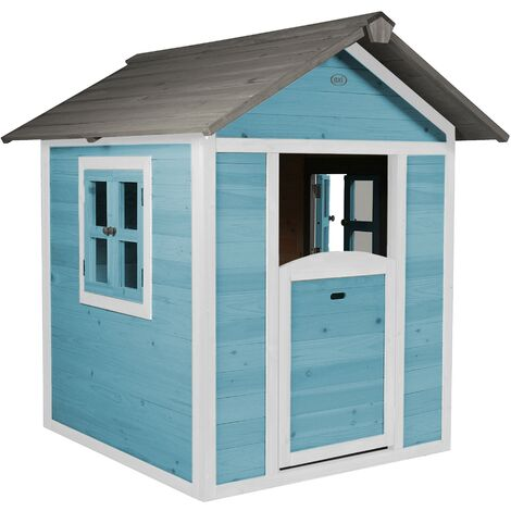 AXI Maison Enfant Beach Lodge en Bleu   Maison de Jeux en bois FFC pour les enfants   Maisonnette / Cabane de jeu pour le jardin