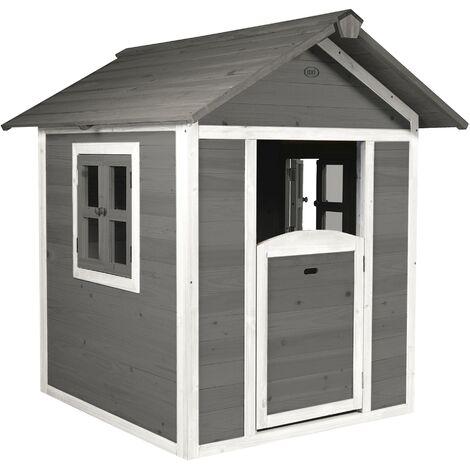 AXI Maison Enfant Beach Lodge en Gris | Maison de Jeux en Bois FFC pour Les Enfants | Maisonnette / Cabane de Jeu pour Le Jardin