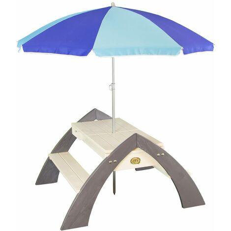 AXI Picknicktisch für Kinder Delta Grau und Weiß A031.023.00