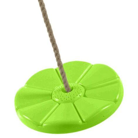 AXI Siège Balançoire ronde en plastique vert clair | Balançoire Enfant - 27 cm