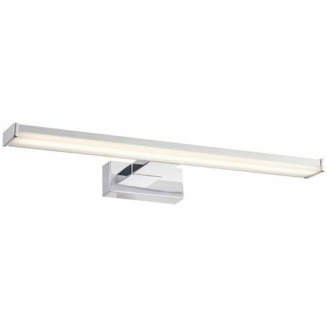 Axis Bathroom Wall Light in Plastic, Chrome Effect and Frosted Plastic