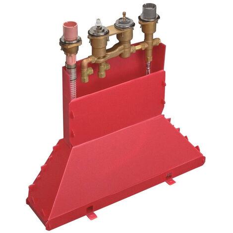 Axor Basic set for 4-hole rim mounted thermostatic bath mixer (15482180)