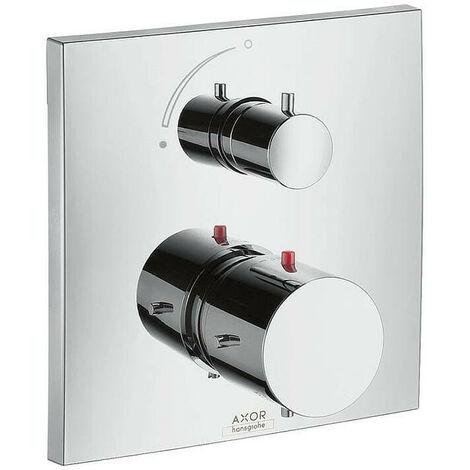 AXOR - Set de finition Starck X pour thermostatique encastré avec robinet d'arrêt chromé