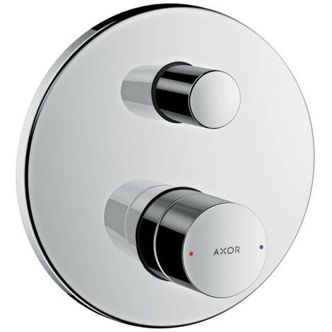 AXOR Uno Single lever bath mixer for concealed installation zero handle with integrated security combination, Chrome (45407000)