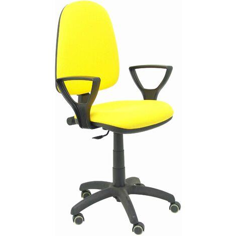 Ayna bali chaise jaune bras fixes roues de parquet