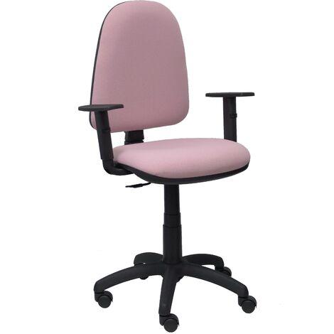 Ayna bali, chaise rose pâle à accoudoirs réglables