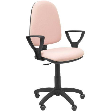 Ayna bali chaise rose pâle bras fixes roues de parquet