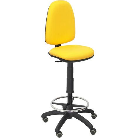 Ayna bali tabouret jaune roues de parquet