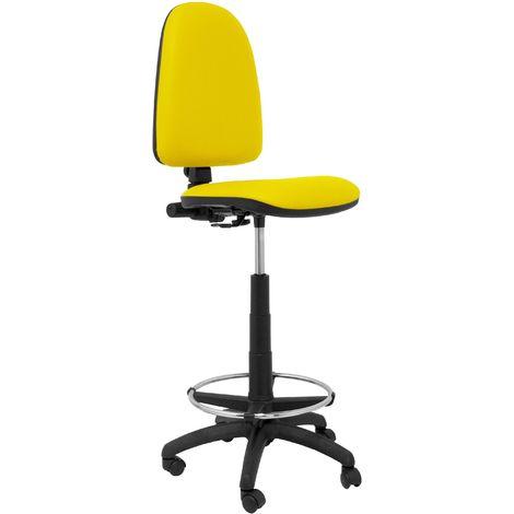 Ayna similpiel tabouret jaune