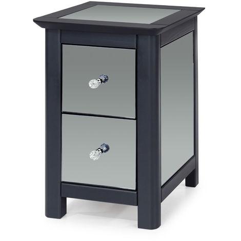 Ayr 2 Drawer Petite Bedside Cabinet