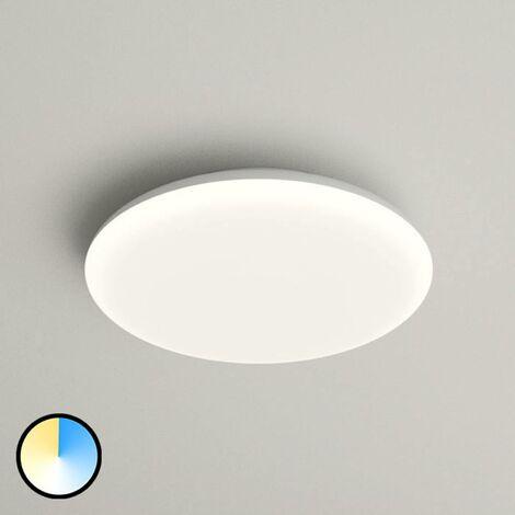 Azra LED ceiling lamp, white, round, IP54, Ø 25 cm