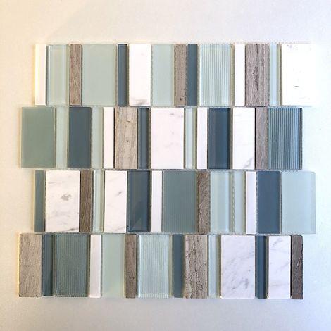 Azulejo malla mosaico barato para piso y pared modelo NOKA