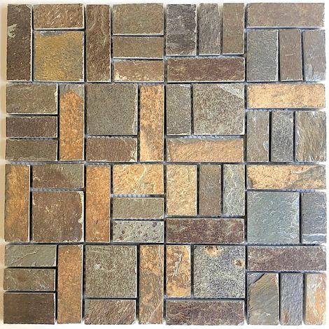 Azulejo malla mosaico de pizarra de piedra natural syg-mp-kinoa