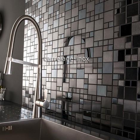 Azulejo mosaico acero inoxidable