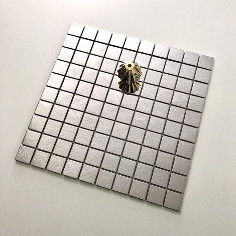 azulejo mosaico acero inoxidable cocina y baño mi-reg30-mir