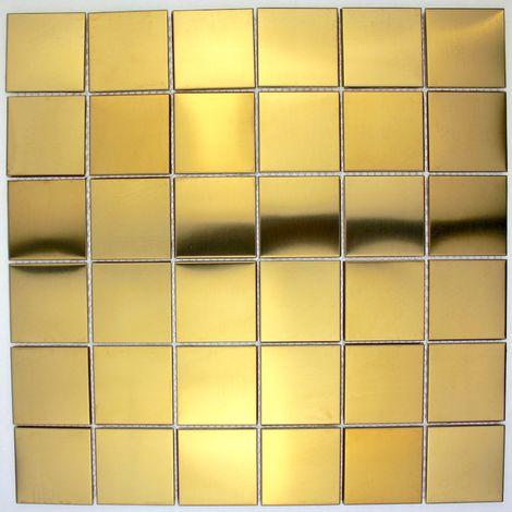 azulejo mosaico acero inoxidable cocina y baño mi-reg48-g
