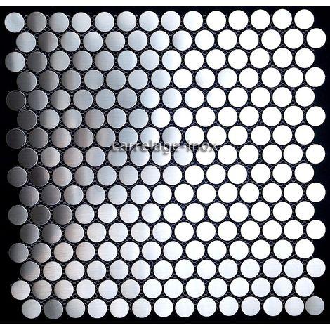 azulejo mosaico acero inoxidable cocina y baño mi-round20