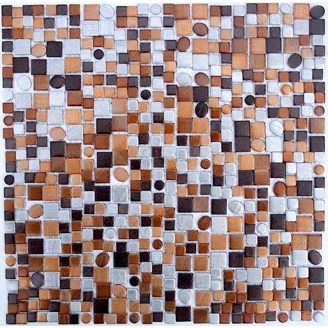 Azulejo mosaico de aluminio ma-tren-mar