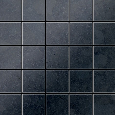 Azulejo mosaico de metal sólido Acero bruto laminado gris oscuro 1,6 mm de grosor ALLOY Century-RS 0,5 m2