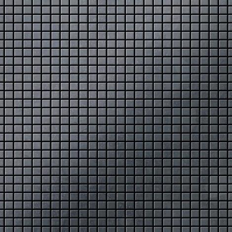 Azulejo mosaico de metal sólido Acero bruto laminado gris oscuro 1,6 mm de grosor ALLOY Glomesh-RS 1,07 m2
