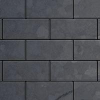 Azulejo mosaico de metal sólido Acero bruto laminado gris oscuro 1,6 mm de grosor ALLOY Subway-RS 0,58 m2
