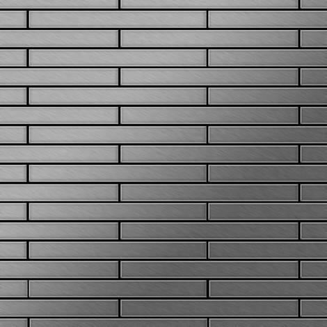 Azulejo mosaico de metal sólido Acero inoxidable cepillado gris 1,6 mm de grosor ALLOY Avenue-S-S-B 0,74 m2