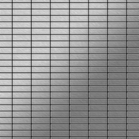 Azulejo mosaico de metal sólido Acero inoxidable cepillado gris 1,6 mm de grosor ALLOY Cabin-S-S-B 1,01 m2
