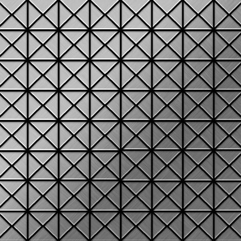 Azulejo mosaico de metal sólido Acero inoxidable cepillado gris 1,6 mm de grosor ALLOY Deco-S-S-B 0,92 m2