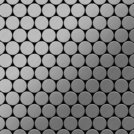Azulejo mosaico de metal sólido Acero inoxidable cepillado gris 1,6 mm de grosor ALLOY Dollar-S-S-B 0,88 m2