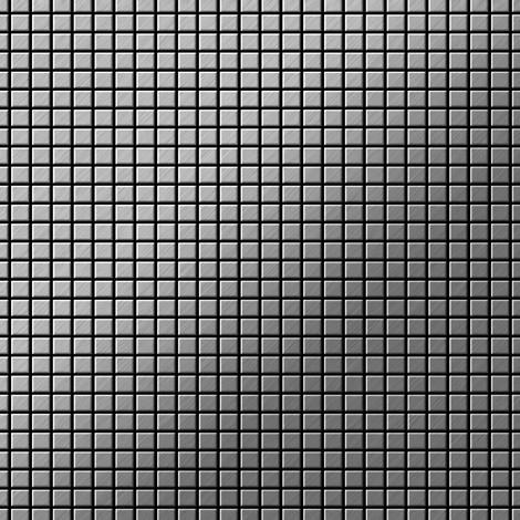 Azulejo mosaico de metal sólido Acero inoxidable cepillado gris 1,6 mm de grosor ALLOY Glomesh-S-S-B 1,07 m2