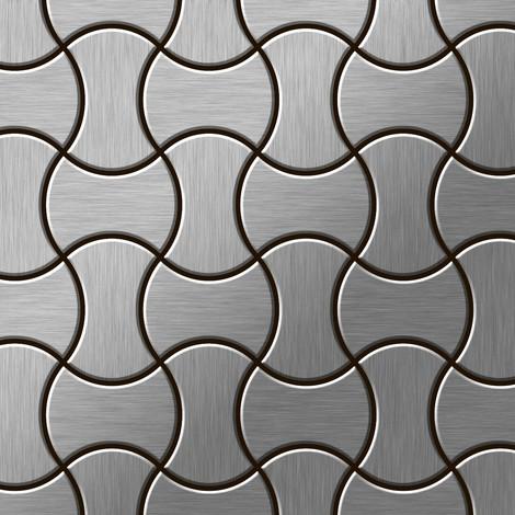 Azulejo mosaico de metal sólido Acero inoxidable cepillado gris 1,6 mm de grosor ALLOY Infinit-S-S-B diseñado por Karim Rashid 0,91 m2