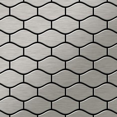 Azulejo mosaico de metal sólido Acero inoxidable Marine cepillado gris 1,6 mm de grosor ALLOY Karma-S-S-MB diseñado por Karim Rashid 0,86 m2
