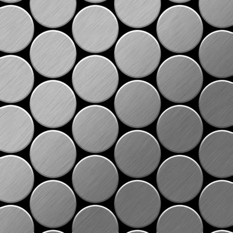 Azulejo mosaico de metal sólido Acero inoxidable Marine cepillado gris 1,6 mm de grosor ALLOY Medallion-S-S-MB 0,73 m2